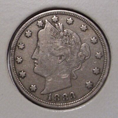 1883 Liberty Nickel , without CENTS , VF