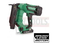 HITACHI NT1850CBSL/JX 18G STRAIGHT BRAD 18V BRUSHLESS NAILER 2 X 3AH BATTERIES