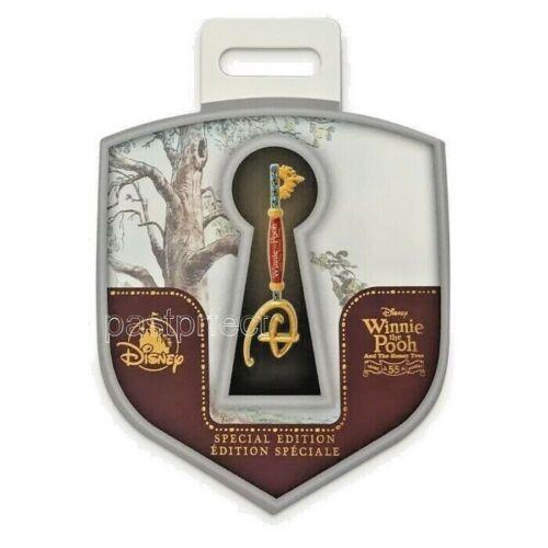 Disney Store Winnie the Pooh & Honey Tree Key Pin 55th Anniversary on Card 2021