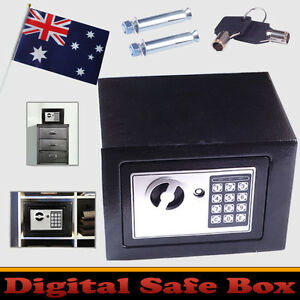 New Small Personal  Black Electronic Security Safe Box Access Home Office