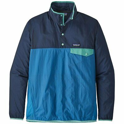 Patagonia Men's Houdini Snap T Pullover in Port Blue Featherweight