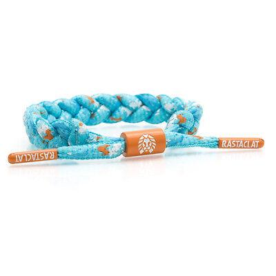 Brand New RASTACLAT Zeal Mint Art Splatter Braided Shoelace Bracelet