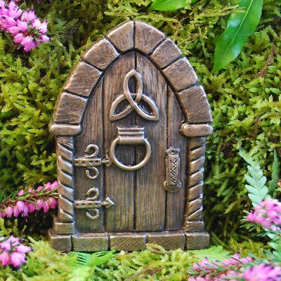 Irish Fairy Door (Irish Celtic Fairy Door for Garden Faeries Elfs Pixies In/outdoor Bronze Finish)
