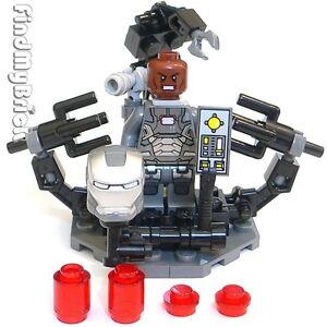 Lego-Iron-Man-3-Custom-Suit-Up-Gantry-War-Machine-Suit-Rhodey-Minifigure-NEW