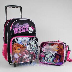 Monster High Ebay >> Girls Wheeled Backpack | eBay