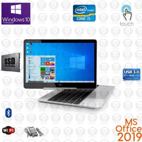 HP Revolve Core i5 TOUCH 8GB RAM SSD Win10 USB3 MSOffice Backlit Laptop
