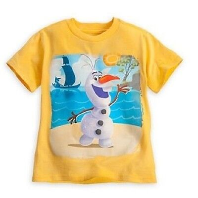 DISNEY STORE FROZEN OLAF SUNNY YELLOW TEE T-SHIRT FOR KIDS NWT