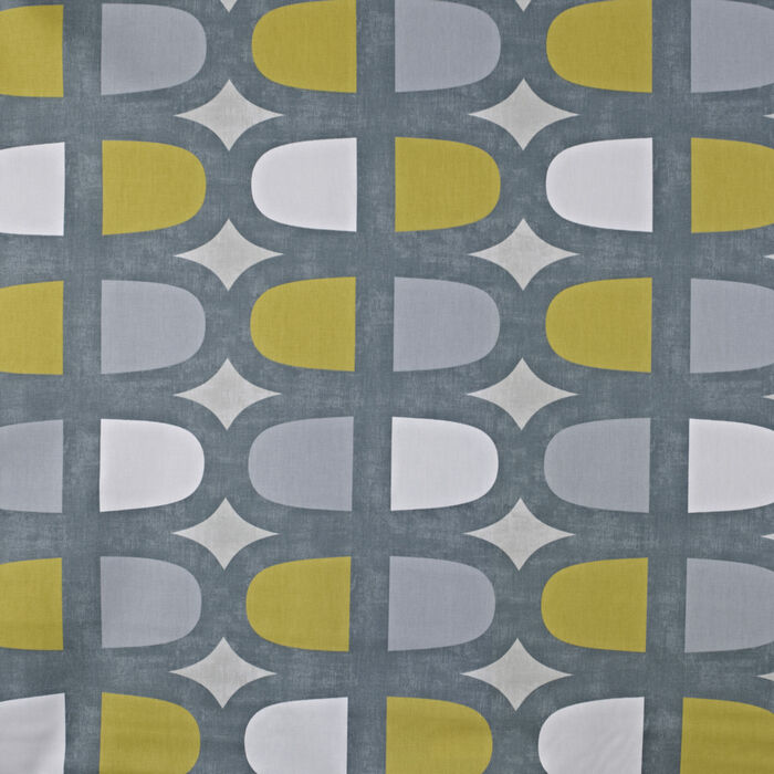 Prestigious Textiles Docklands Geometric 100 Cotton Curtain Fabric Grey Yellow Ebay