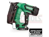 Hitachi NT1865DBSL/JX 16GA Brushless Straight Finish Nailer 2 x 3.0Ah Batteries