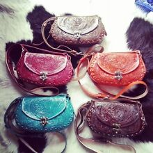 Hand carved leather hip bags Bonogin Gold Coast South Preview