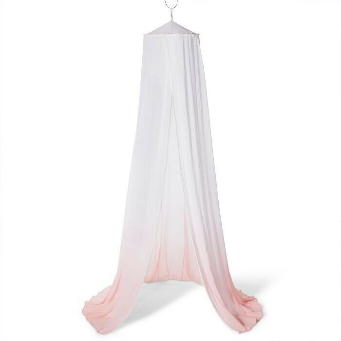PILLOWFORT Dip Dye Bed Canopy | White/Pink | 🆕 In Open Box