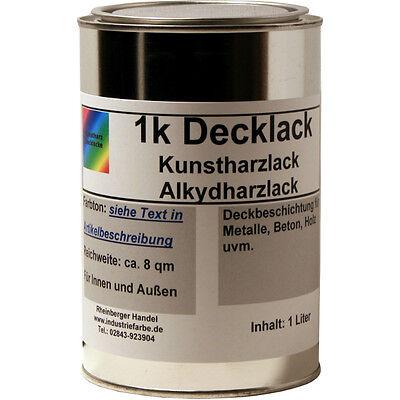 Mahagoni Lack (Schmiedelack, Decklack, Kunstharzlack, RAL 8016 Mahagonibraun glänzend, 1 Liter)