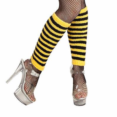 Stulpen Biene gelb-schwarz, Kostüm Strümpfe für Karnevalsverkleidung Wesepe
