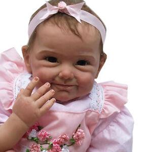 Silikon-Vinyl Wiedergeboren Babypuppen Lebensechte Baby Simulation Puppe 55CM