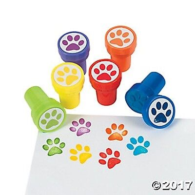 Party Crafts (6 Paw Print Dog Self Ink Stampers Birthday Party Favors Gifts Kids)