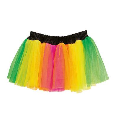 Neonfarbene Kostüme (Petticoat bunt, Neonfarben, Einheitsgröße    )