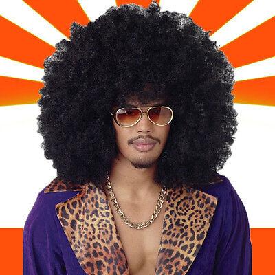 »WOW Mega XXL Afro Perücke Karneval Fasching Hippie Party Haare NEU«