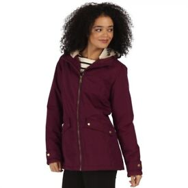 NEW REGATTA BRIENNA WATERPROOF INSULATED HOODED JACKET FOR WOMENS SIZE 16
