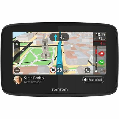"TomTom GO 520 5"" Sat Nav Wi-Fi Lifetime World Maps Traffic Speed Cameras Updates"