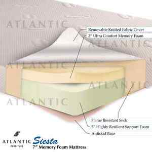 "NEW in box, Atlantic Siesta TWIN  7"" memory foam mattress Kawartha Lakes Peterborough Area image 3"