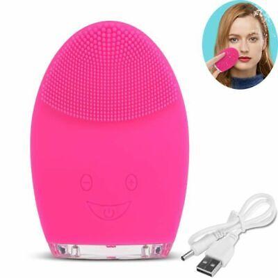 Cepillo Limpiador Cara Masajeador Eléctrico USB Anti Edad Exfoliator Cuidado*