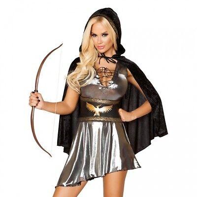 Robin Hood Kostüm silber S M L Cape Kleid Karneval Fasching Fasnacht