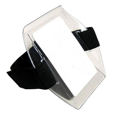 Arm Band Photo ID Badge Holder Vertical w/ Black Strap
