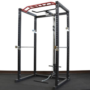 BRONSON Power Rack with Lat/Pull Down Attachment