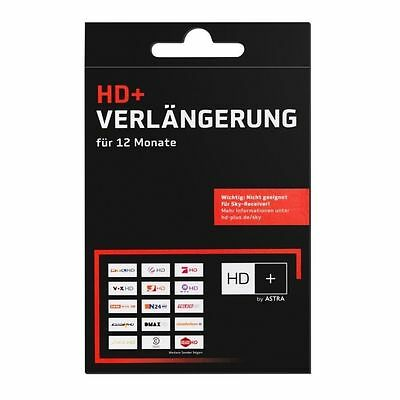 Verlängerung HD + Code  für 12 Monate für 53 HD Plus Sender