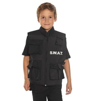 NEU Kinder-Kostüm SWAT Weste, - Swat Kostüm Kind