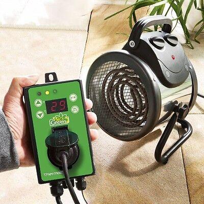 Bio Green Palma 2.0 elektrische Gewächshausheizung Thermo2 Digital Thermostat