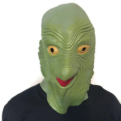 Creature from the Black Lagoon Swamp Monster Mask Full Head Cosplay Costume ](The Creature From The Black Lagoon Costume)