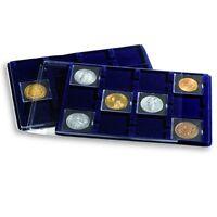 Confezione Da 2 Vassoi In Floccato Blu Con 15 Caselle - Ditta Leuchtturm -  - ebay.it