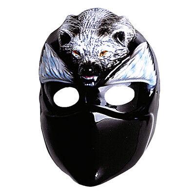 KINDER NINJA WOLF MASKE # Wolfsmaske Ninjamaske Kindermaske Kostüm Zubehör - Ninja Wolf Kostüm
