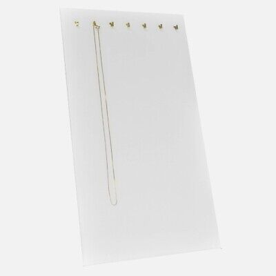 2 White Necklace Chain Bracelet Easels Jewelry Displays With 7 Hooks