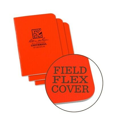 Rite In The Rain Or71fx-m All-weather Universal Stapled Notebooks Orange