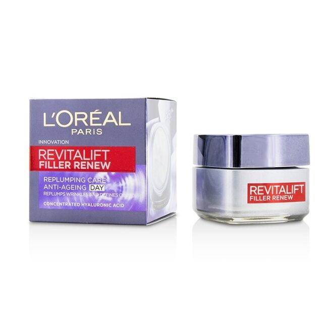 NEW L'Oreal Revitalift Filler Renew Replumping Care Anti-Ageing Day Cream - All