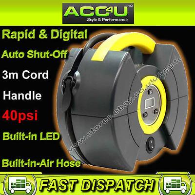 Polco 59554 Car Van Auto Cut-off Rapid Digital Tyre Air Compressor Inflator Pump