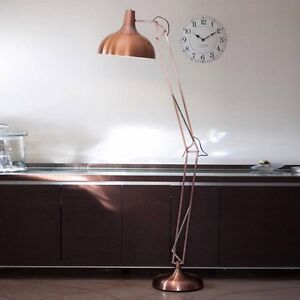 BNIB Amalfi Sly Floor Lamp Copper - Mid Century Modern Industrial Kingsford Eastern Suburbs Preview