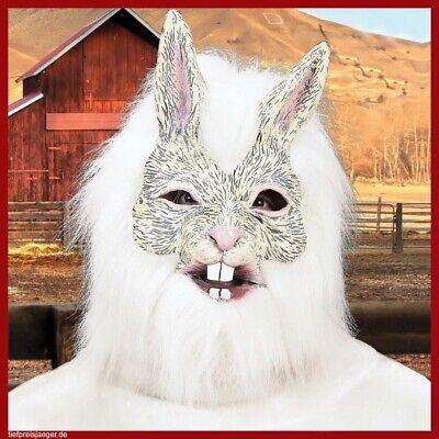 LATEX HASEN MASKE # Karneval Hasenmaske Tiermaske Maskottchen - Latex Tier Kostüme