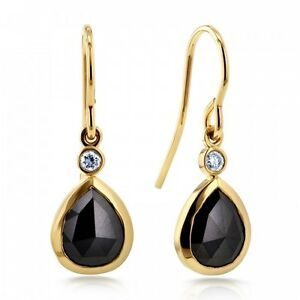 BLACK DIAMOND FISH HOOK EARRINGS 2 1/2 CTW IN 14K Castle Hill The Hills District Preview