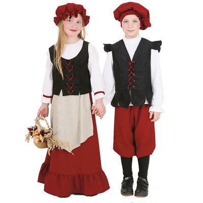 Mädchen Mittelalter Kostüm (Kinder-Kostüm Bauern-Mädchen Dienstmagd Mittelalter Bauernkostüm   )