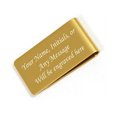 Personalized Free Engraved Gold Money Clip Plus free - Personalized Money Clip