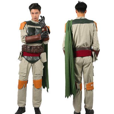Kostüm Cosplay Superheld Outfit Halloween Kostüm für Männer (Star Wars Boba Fett Kostüm)