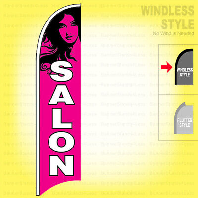 Salon - Windless Swooper Flag 2.5x11.5 Ft Feather Banner Sign Pb