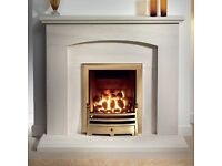 """Gallery 48"""" Cartmel Portuguese Limestone Fireplace (excluding gas fire)"""