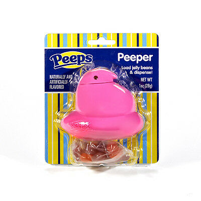 Peeps Peeper Pink Jelly Bean Dispenser Party Favor Easter Gi