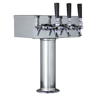 Kegco Ttow-3f-ss Polished Stainless Steel Triple Tap Tstyle 3 Faucet Draft Tower