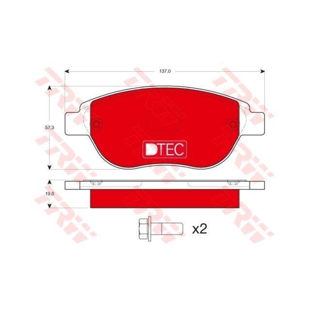 TRW Bremsbelagsatz, Scheibenbremse DTEC COTEC  GDB1464DTE  Vorderachse PSA