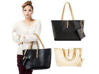 Lady Mixed Colour Shoulder Bags Leather Look